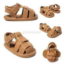 New Summer Baby Boy Soft Sole Prewalker Sandals Toddler PU Leather Walking Shoes