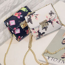Mini Womens Vitage Handbag Chain Shouder Crossbody Print Flower Perfume