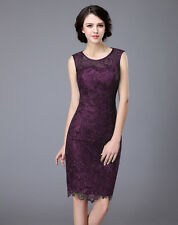 New Arrival Navy Blue Knee Length Lace Mother Of The Bride Dress Formal Gowns