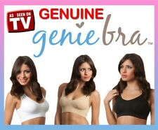 New 3 pcs GENUINE Genie Bra Seamless Bra with Pads  S M L XL XXL XXXL