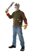 Jason Voorhees Friday The 13th Mens Halloween Fancy Dress Costume With Mask M-XL