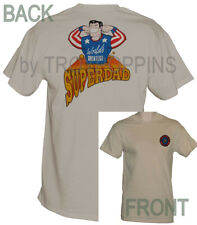 SUPER DAD-FATHER'S DAY-FAMILY HERO-WORLD'S GREATEST-T-SHIRT GRAPHIC PRINTED TEE