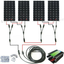 160W Mono Solar Panel Complete Kit: 300W 600W 900W 1.2KW 12/24V Off Grid Charger
