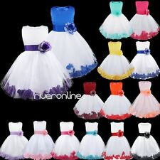 Flower Girl Kid Formal Wedding  Bridesmaid Party Princess Dress Junior Age 2-14Y