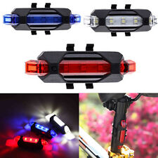LED Bicycle Bike Cycling USB Rechargeable Front Rear Tail Safety Light