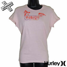 HURLEY INTERNATIONAL 'FOR GOOD' WOMENS T-SHIRT PINK LARGE UK 12 BNWT RRP £23