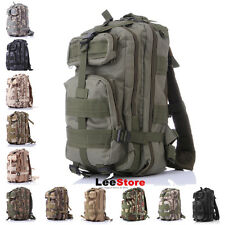 3P Outdoor Waterproof  Backpack Bag Wide Shoulder Straps Rucksack Military  ACU
