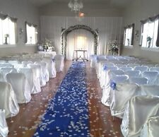 Satin Aisle Runner 125 ft Long 5ft wide - Wedding, Red Carpet Events - Seamless