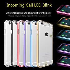 For iPhone 6 6S Plus Incoming Call LED Flash Light UP Remind Clear Case Cover