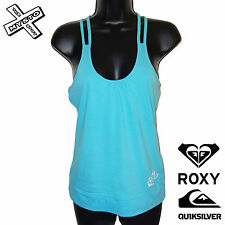 QUIKSILVER ROXY 'PAINT THIS' WOMENS HALTERNECK TOP BLUE UK 10 12 BNWT RRP £25