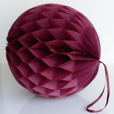 Burgundy color tissue paper Honeycomb - wedding party decorations