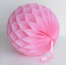 Baby Pink color tissue paper Honeycomb - wedding party decorations