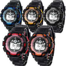 Waterproof Mens Boy's Watches Digital LED Quartz Alarm Date Sports Wrist Watch