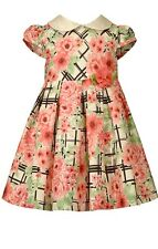 Bonnie Jean Pretty Baby Girl Short Sleeve Floral Party Dress 12M 18M 24M New