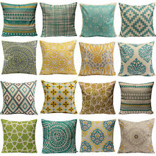 Bohemia Throw Pillow Case Cushion Cover Cotton Linen Geometric Flower Home Decor