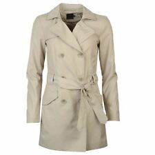 Only Womens Molly Long Double Breasted Trench Coat Mac Jacket Top Clothing