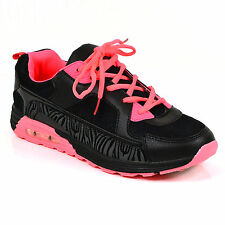 LADIES WOMENS TRAINERS GYM JOGGING SPORTS RUNNING CASUAL FITNESS SHOES SIZE ZC