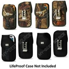 Secure Holster Cover Pouch With Metal Belt Clip Fits LifeProof iPhone 4S/4 Case