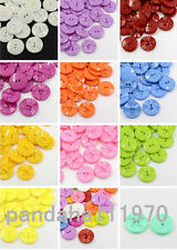 100X 2-Hole Acrylic Plastic Sewing Buttons for Costume Design X-BUTT-E073-DSX