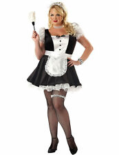 Ladies Sexy French Maid France Waitress Outfit Plus Size Fancy Dress Costume