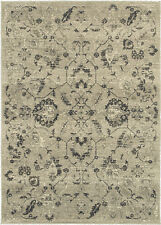 Sphinx Beige Contemporary Synthetics Leaves Stems Petals Area Rug Floral 6684D