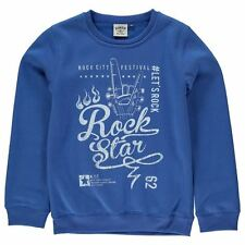 Giorgio Kids Rock Star Junior Sweatshirt Crew Neck Long Sleeve Ribbed Boys Top