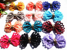 48pcs satin ribbon  Flower Appliques/craft/Wedding decoration