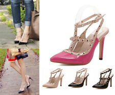 WOMEN High Heel Pump Sandals Lady Ankle T-strap Court Shoes Party Dress Siletto