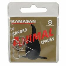 Kamasan Barbed Animal Spade Hooks 7 Sizes Strong Reliable Secured Fishing Tackle