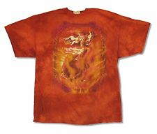 THE MOUNTAIN HORSE FIRE ORANGE TIE DYE MENS T-SHIRT NEW OFFICIAL