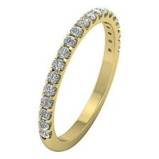 VVS1/VS1/SI1/FG 0.60Ct Round Diamond White Gold  Engagement Stackable Ring Band
