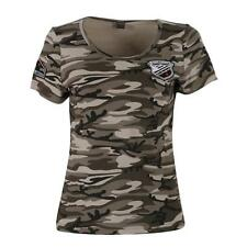 Summer Outdoor Camouflage Military Casual Dress Short Sleeve Loose Shirt Blouse