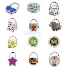Various Color Pattern Rhinestone Folding Bag Purse Handbag Hooks Hanger Holder