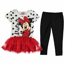 Disney Kids Frill Dress Set Infant Girls Short Sleeve Crew Neck Clothing