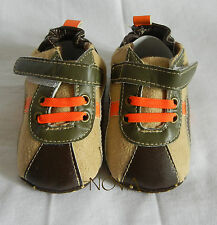 Brown boy infant toddler shoes baby boy pre-walker shoes size3,4,5