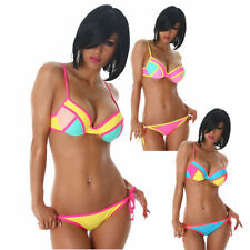 Sexy Ladies Bikini Strap Swimming costume Push-Up Neon Trendy Top Slip