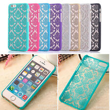 Luxury Slim Retro Hollow Pattern Matte Hard Case Cover Skin For iPhone Samsung