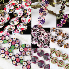 Mother Of Pearl Shell Flower Circles Leopard Star Cobweb Flat Coin Charms Beads