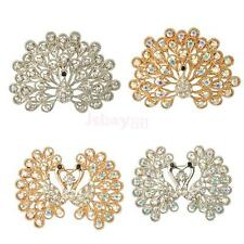 Retro Vintage Style crystal Rhinestone One Peacock Collar brooch pin Wedding