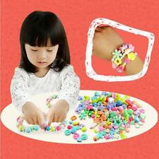 Children Mixed Color DIY Beads Sets Jewelry Necklace Kids Crafts Flower-shaped