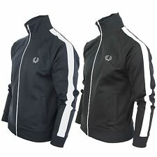 Mens Fred Perry Classic Track Top Jacket Mod Retro