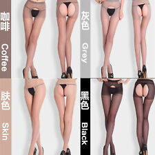 Sexy Women Open Crotch Crotchless Sheer Pantyhose Socks Thin Stockings Tights