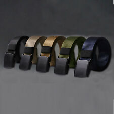 New Mens Belt Military Canvas Belts Metal Automatic Buckle Casual Belt Waistband