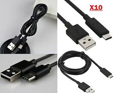 10 X Reversible Type-C USB 3.1 Charger Type C Data Fast Charging Cable ::Black