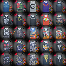 Men Comics Basketball Vest Superhero T-shirt Tank Top Sleeveless Sports Jersey T