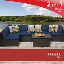 Premier 6 Piece Outdoor Wicker Patio Furniture Set 06a 2 for 1
