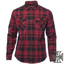 West Coast Choppers Flannel Men's Shirt Shirt Austin Worker's Shirt Work Biker