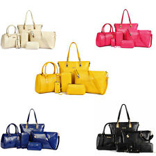 6pcs Fashion Women Crocodile Leather Handbag Shoulder Bag Large Tote Purses MS1