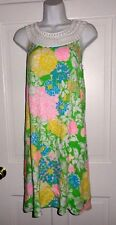NWT LILLY PULITZER MULTI HIBISCUS STROLL JILLIE DRESS M L XL