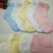 5 Pairs Cute Baby Toddler Kids Girls Boys Lace Mesh Thin Soft Cotton Ankle Socks